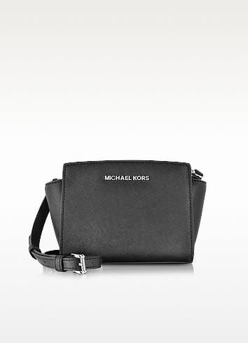 Selma Black Saffiano Leather Mini Messenger  - Michael Kors