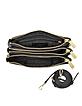 Bedford Black Leather Gusset Crossbody Bag - Michael Kors