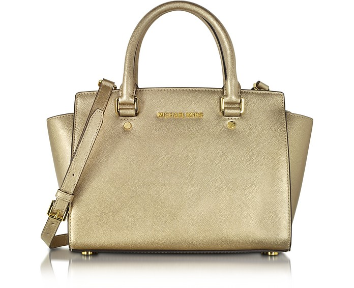 Selma Saffiano Leather Medium Satchel Bag - Michael Kors