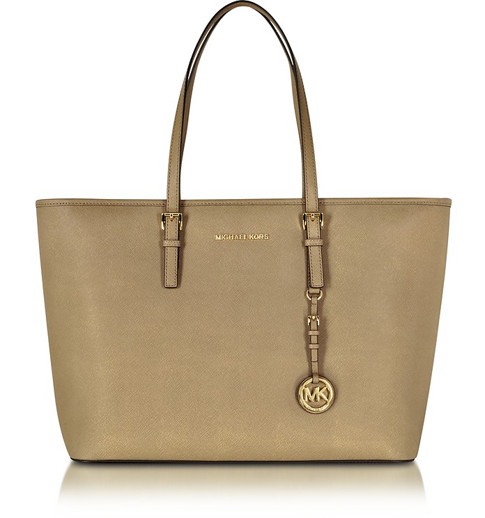 Jet Set Travel Saffiano Leather Medium T Z Tote - Michael Kors