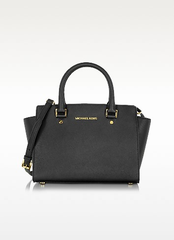 Selma Medium Saffiano Leather Top-Zip Satchel - Michael Kors