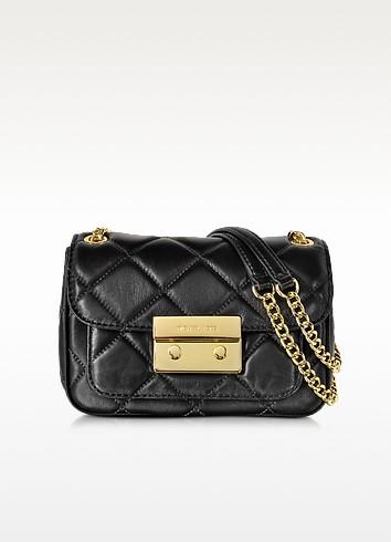 Black Small Sloan Quilted Shoulder Bag  - Michael Kors