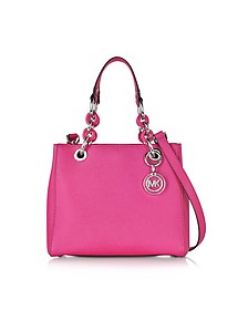Cynthia Small Saffiano Leather NS Satchel Bag - Michael Kors