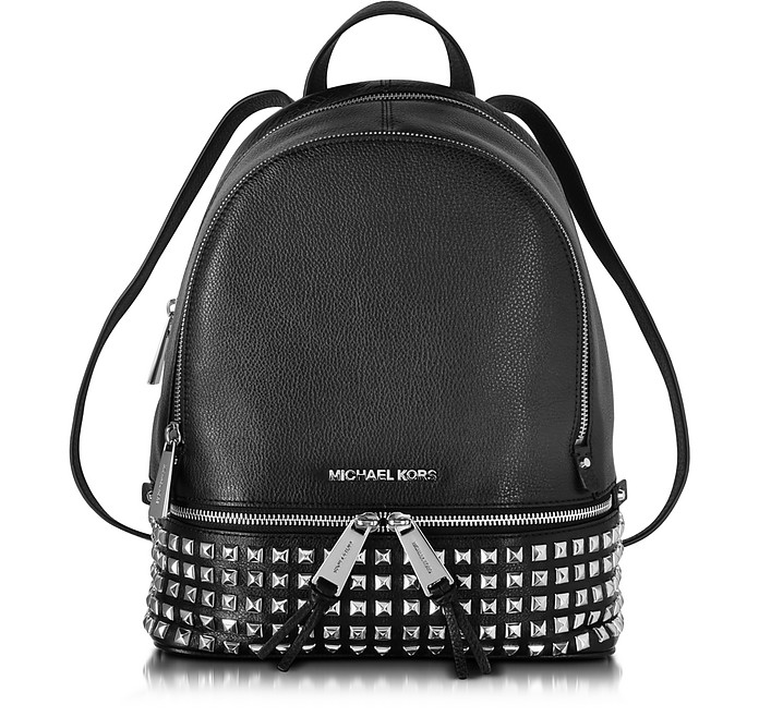 Rhea Zip Small Studded Leather Backpack - Michael Kors