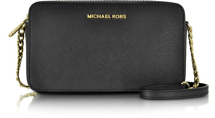 Jet Set Travel Saffiano Leather Medium EW Crossbody Bag - Michael Kors