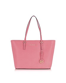 Jet Set Travel Misty Rose Saffiano Leather Top Zip Tote - Michael Kors