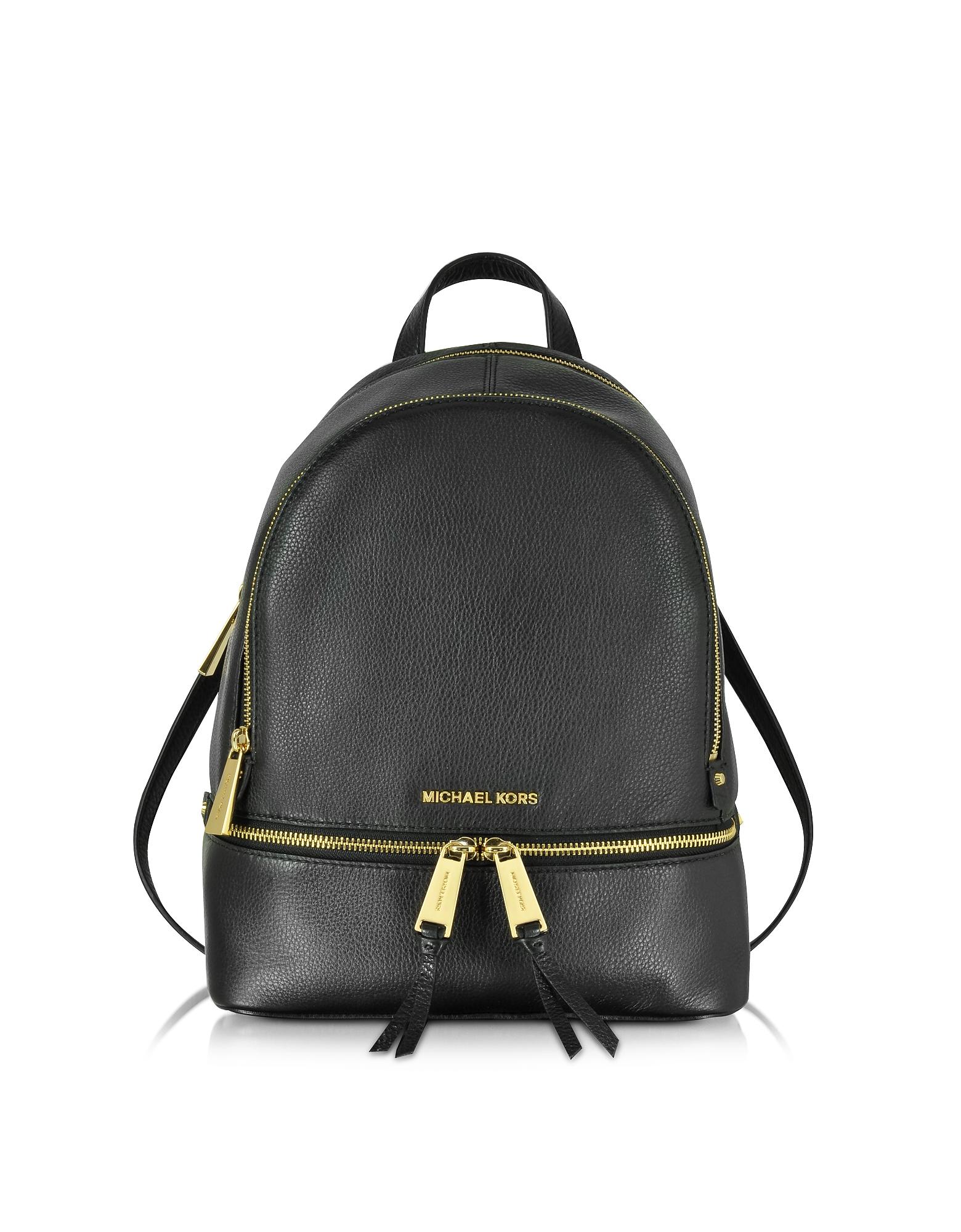 Michael Kors Handbags, Rhea Zip Black Medium Backpack