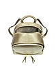 Rhea Zip Pale Gold Medium Backpack - Michael Kors