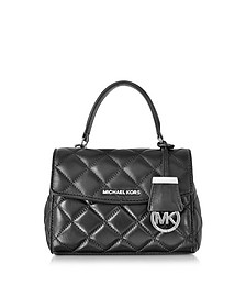 Ava Black Quilted Leather XS Crossbody - Michael Kors