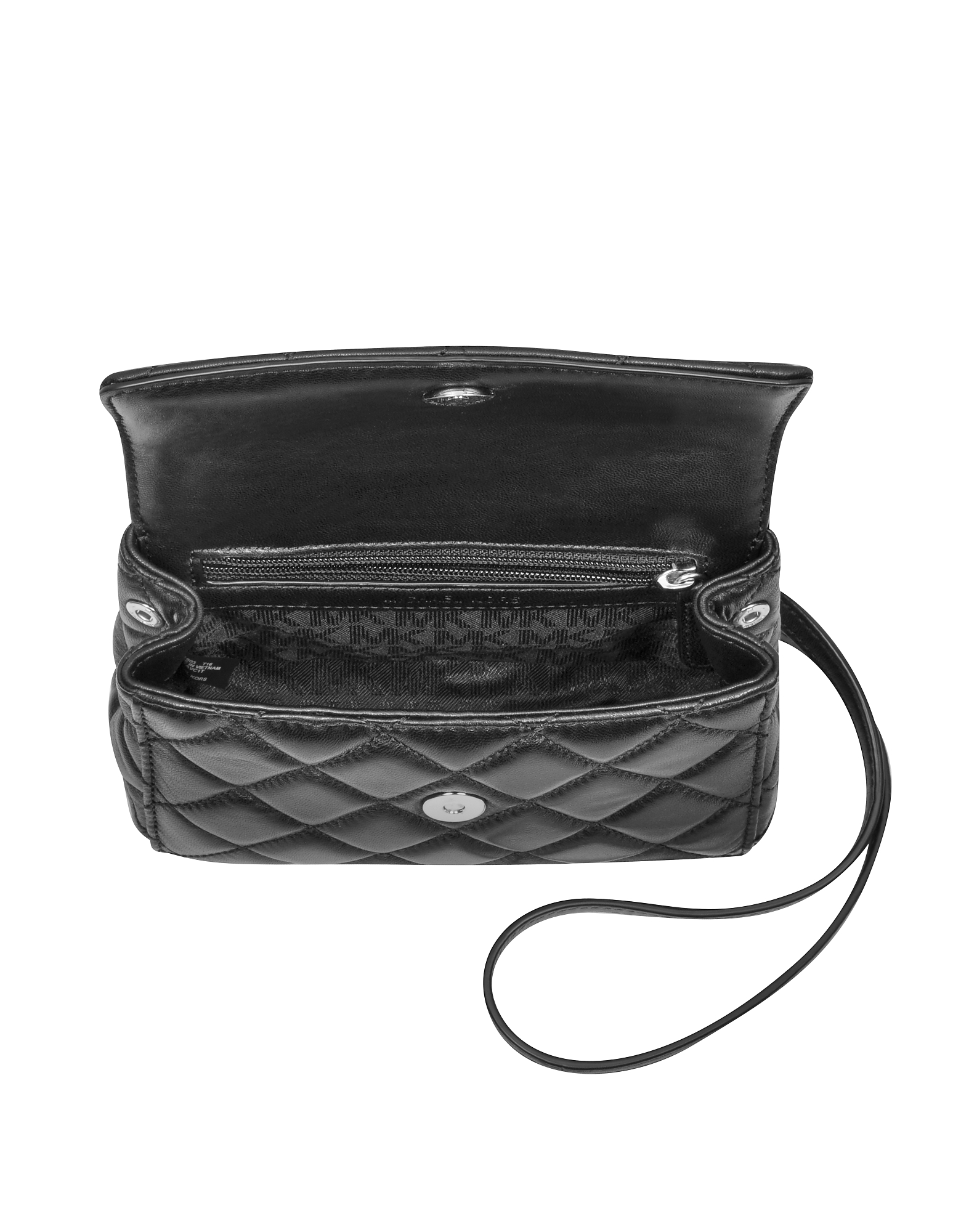 Ava Black Quilted Leather XS Crossbody от Forzieri INT