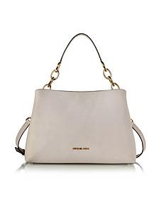 Portia Large Cement Saffiano Leather Shoulder Bag - Michael Kors