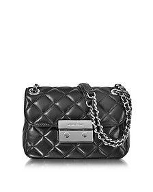 Sloan Small Quilted-Leather w/Rhodium Finish Chain Shoulder Bag - Michael Kors