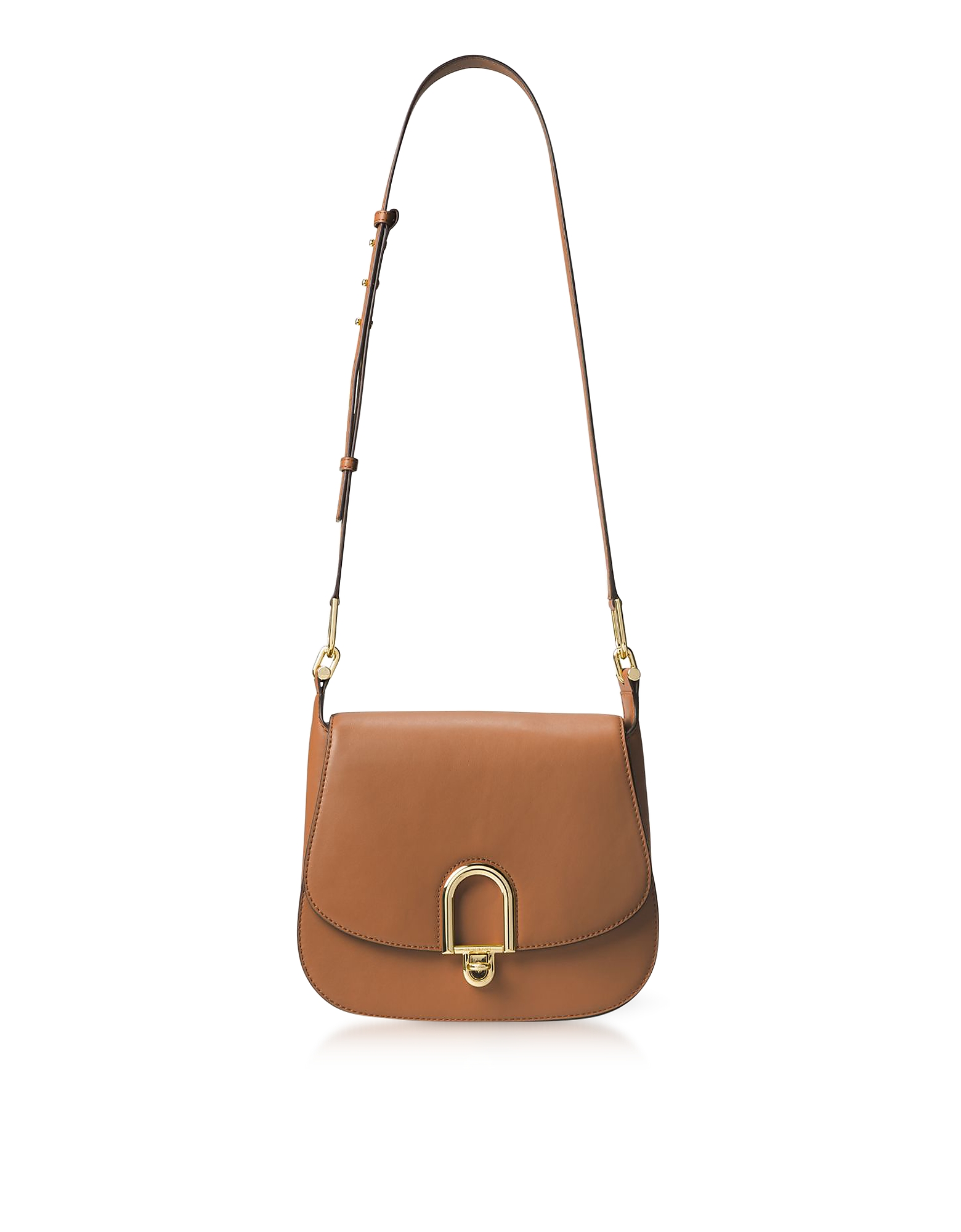 Michael Kors Handbags, Delfina Large Acorn Leather Saddle Bag