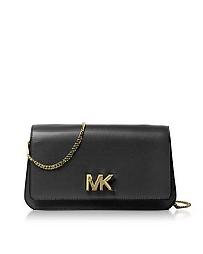 Mott Large Black Leather Clutch - Michael Kors