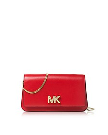 Mott Large Bright Red Leather Clutch - Michael Kors