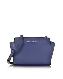 Selma Medium Admiral Blue Saffiano Leather Messenger Bag - Michael Kors
