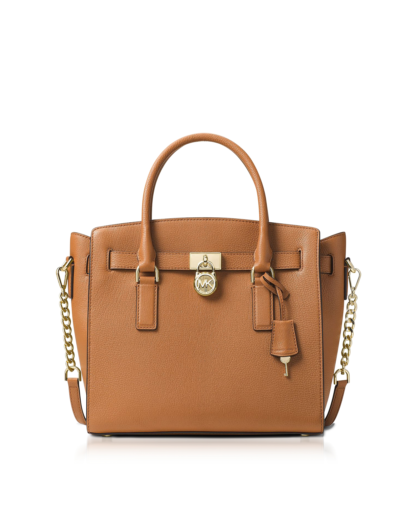 Michael Kors Handbags, Hamilton Large Acorn Pebbled Leather Satchel Bag