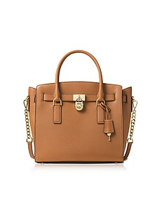 Hamilton Large Acorn Pebbled Leather Satchel Bag  - Michael Kors
