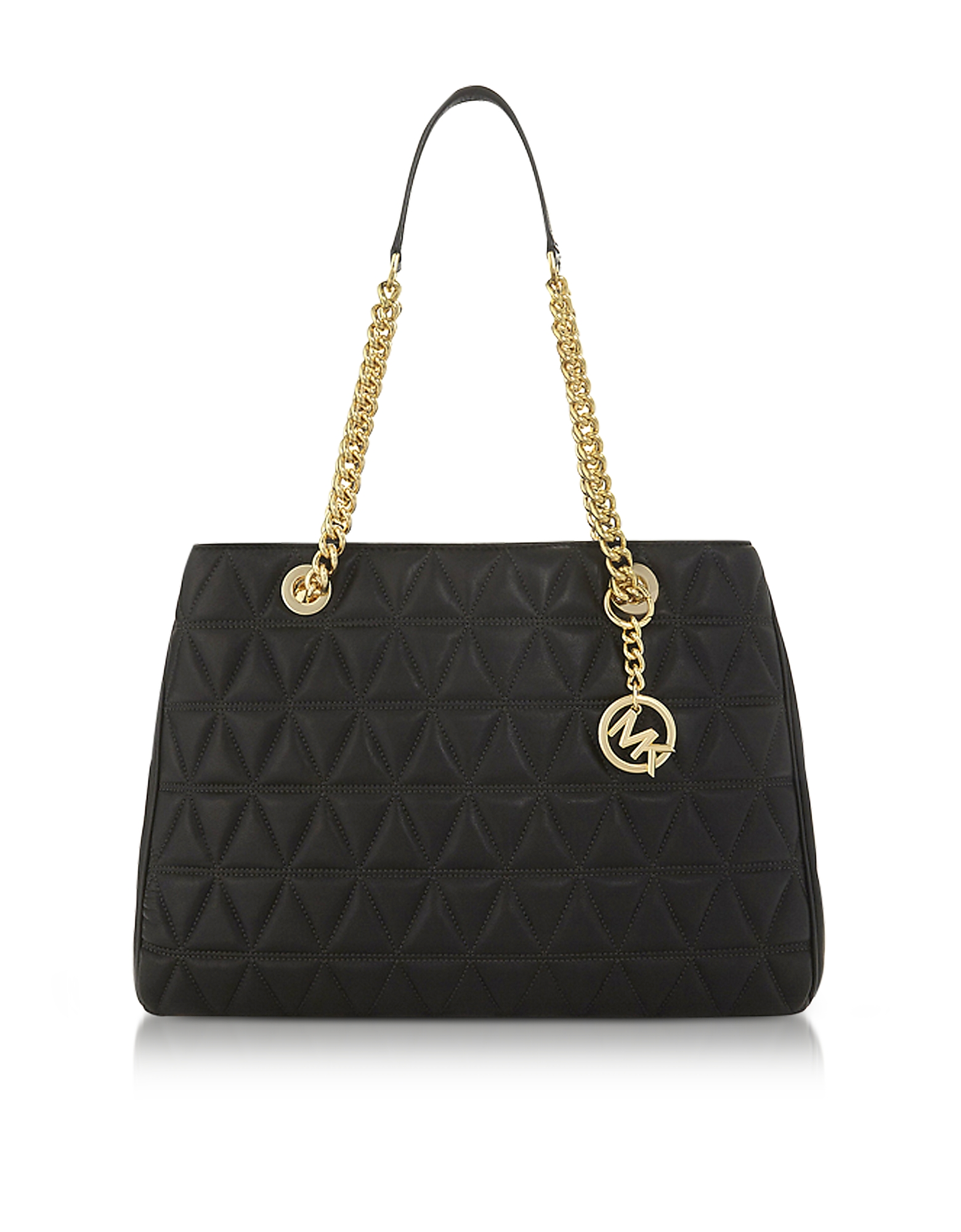 Michael Kors Handbags, Scarlett Large Black Quilted Leather Tote Bag