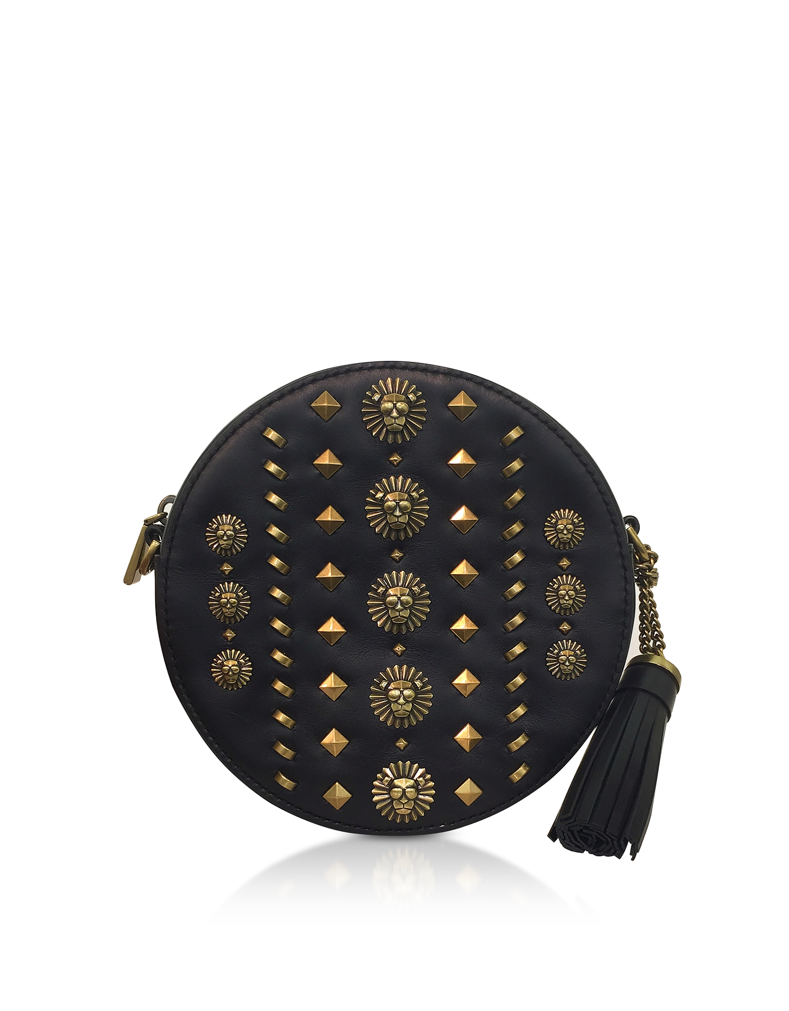 Michael Kors Handbags, Black Studded Polished Leather Canteen Crossbody