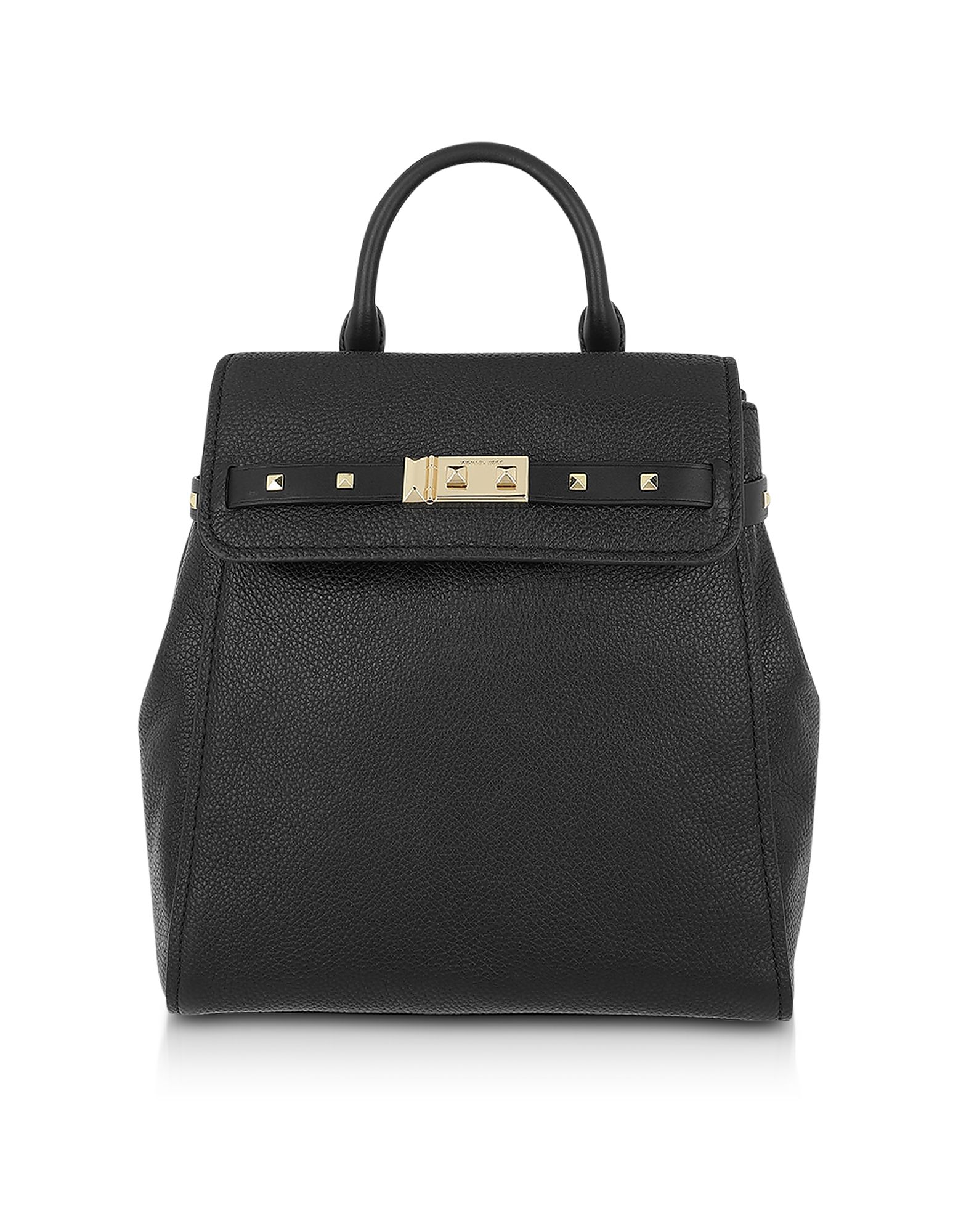 Black Pebbled Leather Addison Backpack