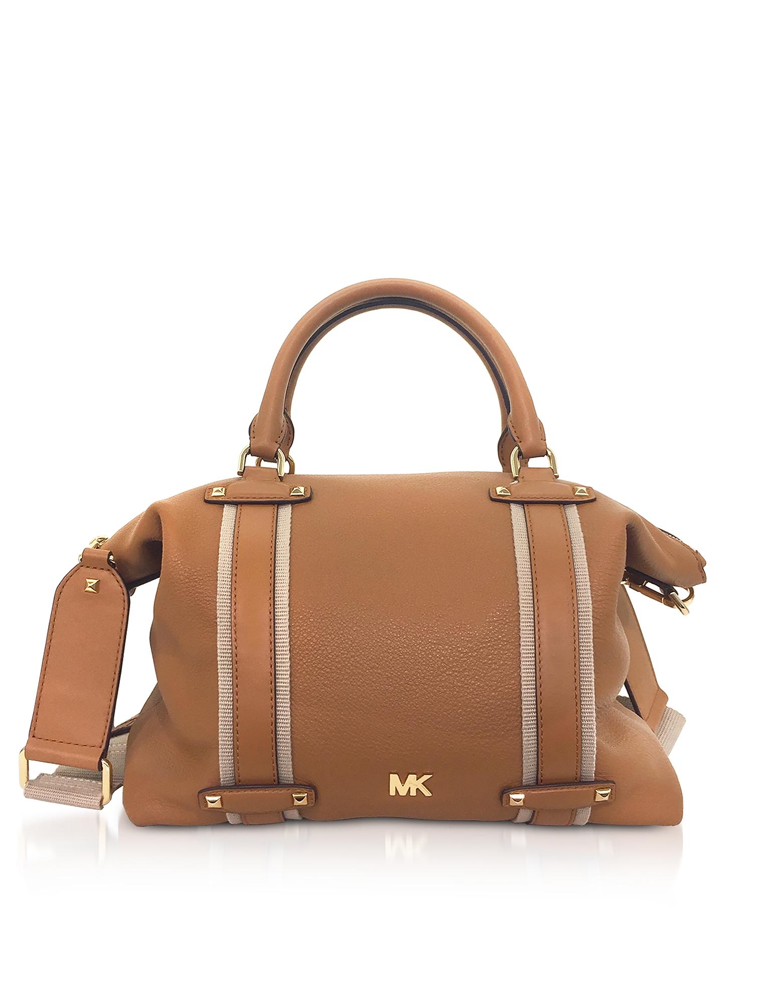 Michael Kors Handbags, Pebbled Leather Griffin Large Satchel