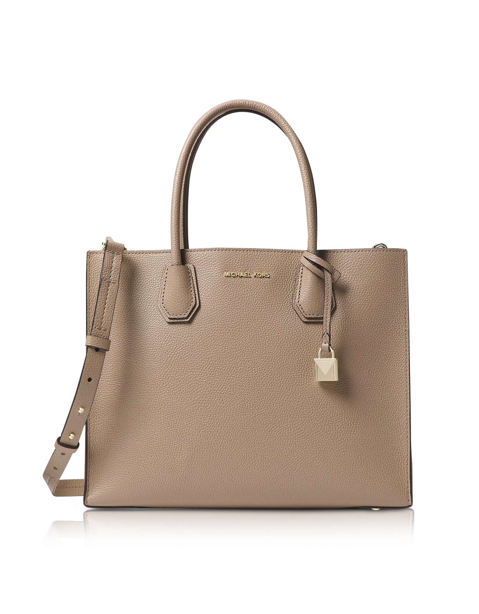 TRUFFLE MERCER LARGE LEATHER TOTE