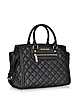 Selma Quilted Black Leather Large Satchel - Michael Kors