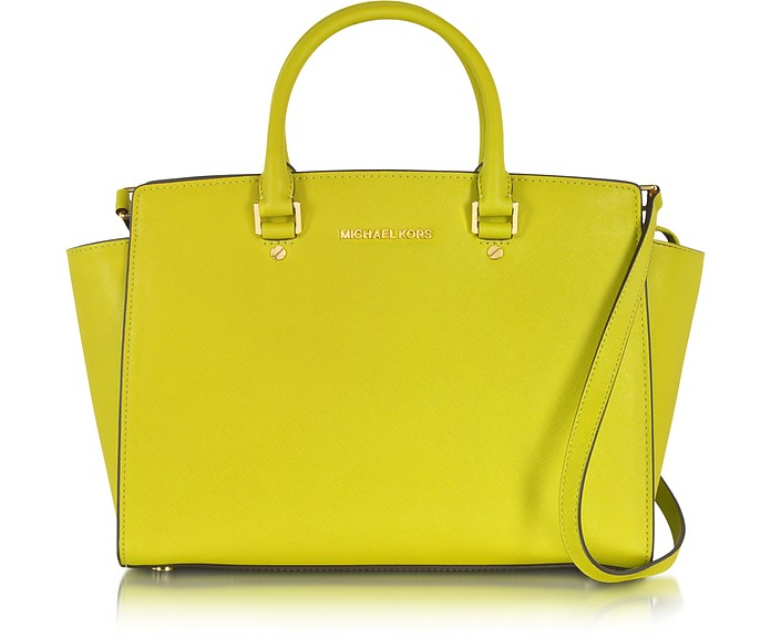 Selma Large Apple Saffiano Leather Satchel - Michael Kors