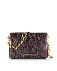 Brinkley Diamante Embossed Leather Medium Messenger - Michael Kors