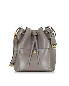 Greenwich Cinder/Rose Saffiano Leather Large Bucket Bag - Michael Kors
