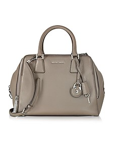 Zoey Large Pebble Leather Satchel Bag - Michael Kors