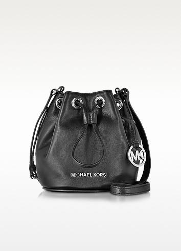 Jules Black Soft Leather Drawstring Crossbody Bag - Michael Kors