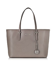 Jet Set Travel Medium Multifunction Cinder Saffiano Tote Bag - Michael Kors