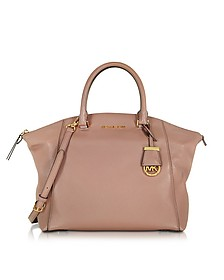 Dusty Rose Riley Large Pebbled-Leather Satchel  - Michael Kors