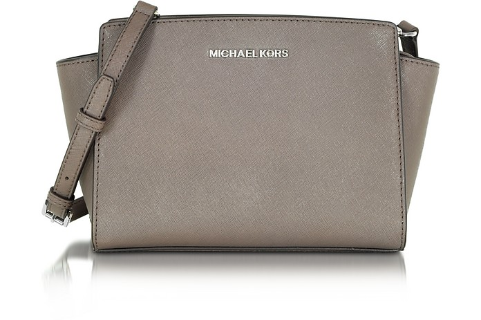 Selma Cinder Saffiano Leather Medium Messenger Bag - Michael Kors