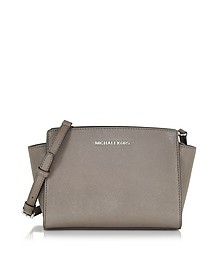 Selma Cinder Saffiano Leather Medium Messenger Bag - Michael Kors