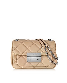 Small Blush Quilted Leather Shoulder Bag w/Flap Top - Michael Kors