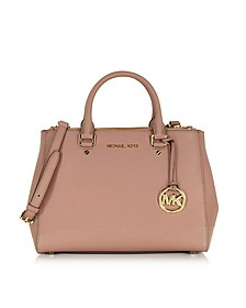 Sutton Medium Saffiano Leather Satchel Bag - Michael Kors