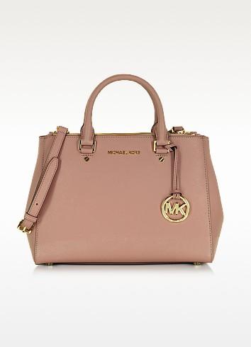 Sutton Medium Saffiano Leather Satchel Bag - Michael Kors