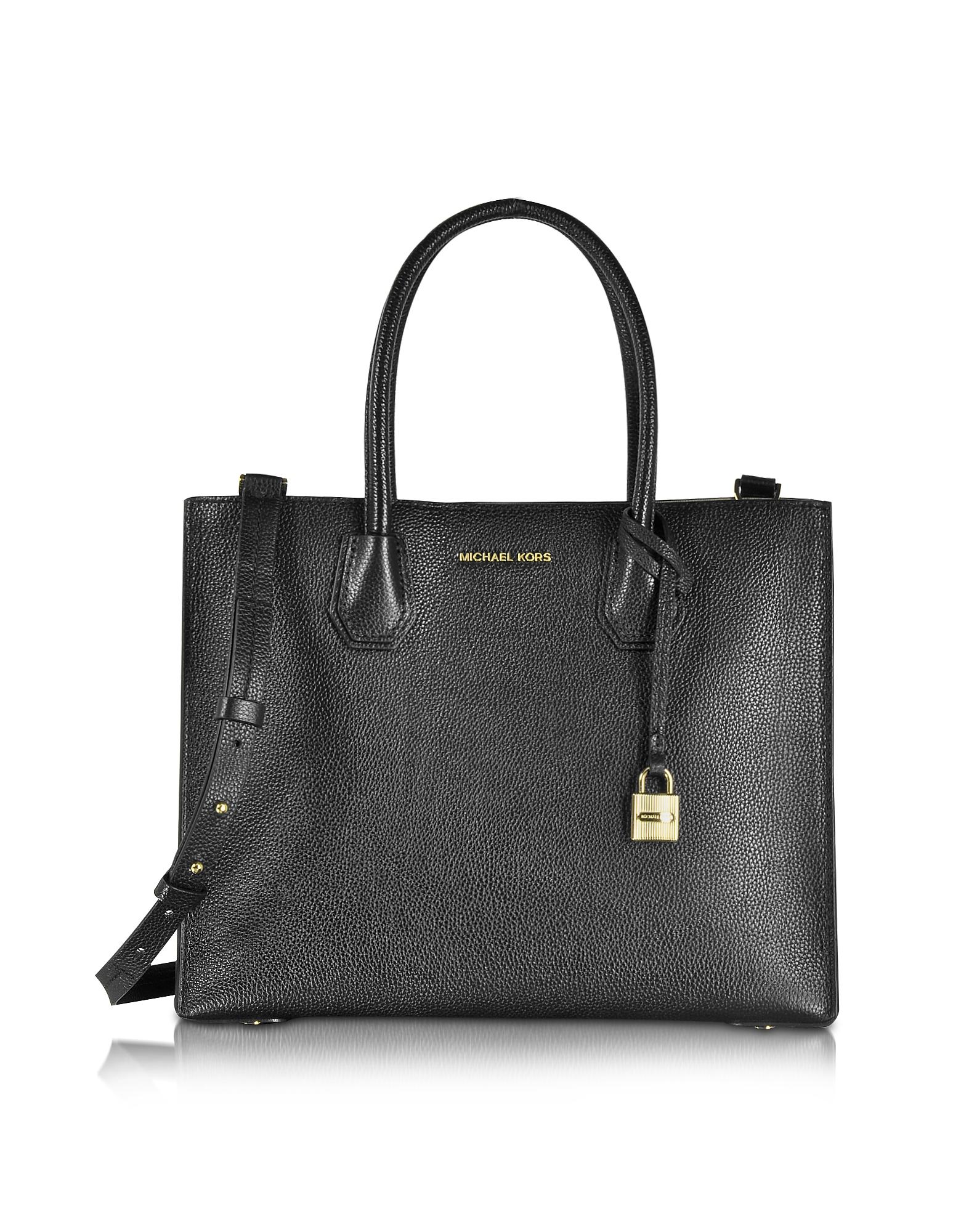 Michael Kors Handbags, Mercer Large Convertible Bonded-Leather Tote