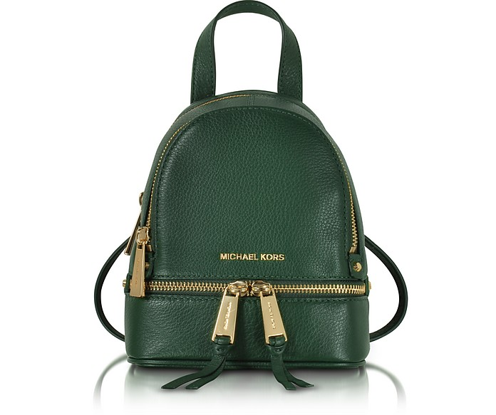 Rhea Zip Leather Extra Small Messenger Backpack - Michael Kors