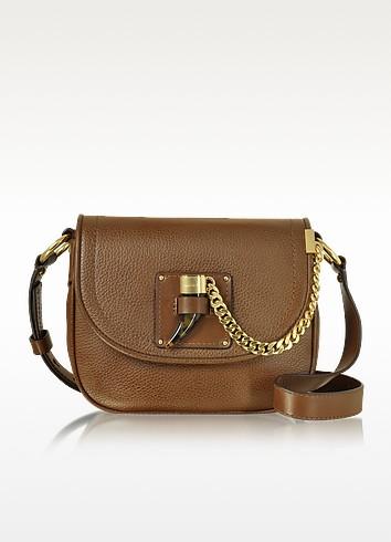 James Medium Leather Saddlebag - Michael Kors