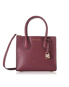 Mercer Medium Mulberry Pebble Leather Crossbody Bag - Michael Kors