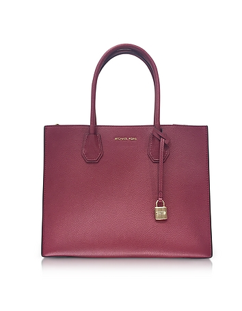 Mercer Large Mulberry Pebble Leather Convertible Tote Bag