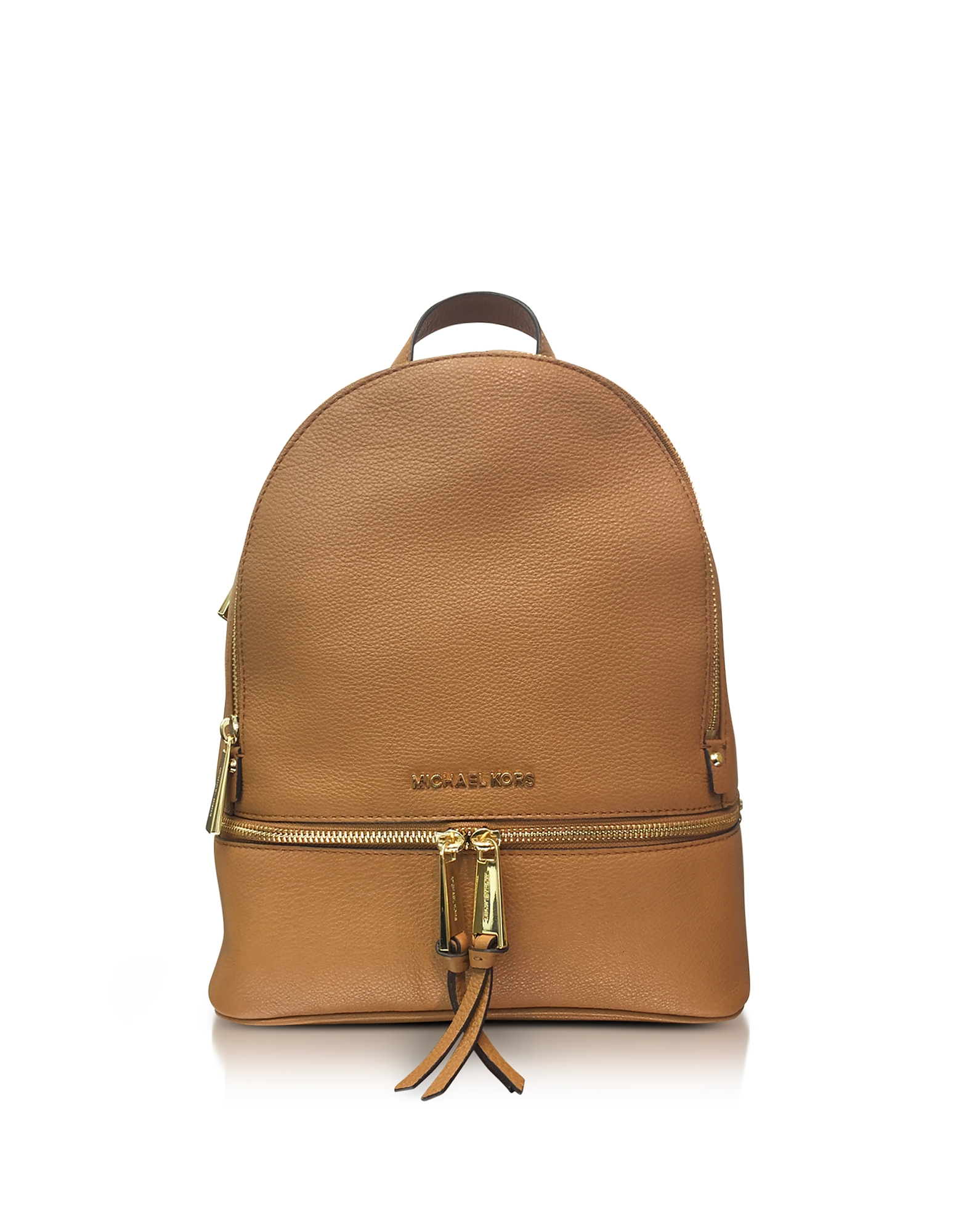 Michael Kors Handbags, Rhea Zip Medium Luggage Leather Backpack