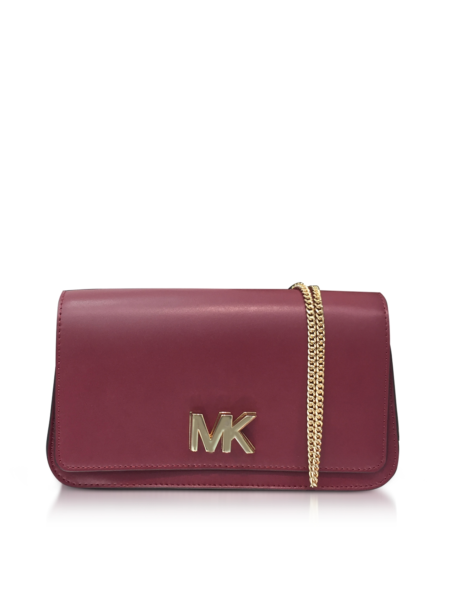 Michael Kors Handbags, Mott Large Mulberry Leather Clutch