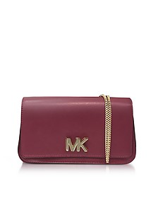 Mott Large Mulberry Leather Clutch  - Michael Kors