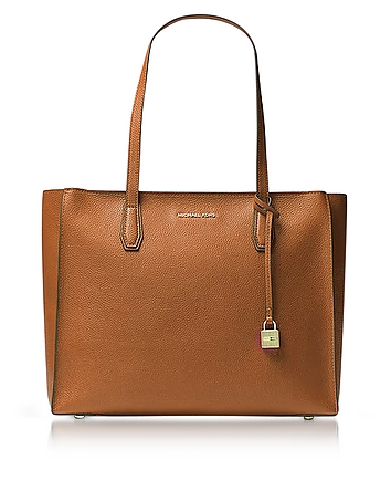 Mercer Large Acorn Pebble Leather Top Zip Tote Bag