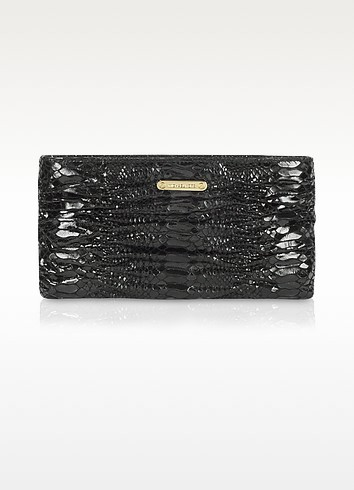 Webster Quilted Reptile-Stamped Clutch - Michael Kors